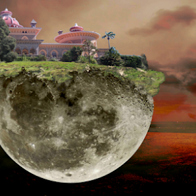 House by Florindo Silva - Digital Art Places ( house moon, arts, art, places, digital )