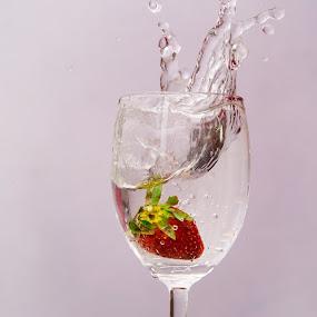 strawberry;splash;water by Amol Patil - Food & Drink Fruits & Vegetables ( water;splash; )
