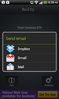 Screenshot of Contacts Backup -iCBackup