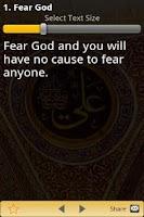 Screenshot of Sayings of Ali(RA) - Islam