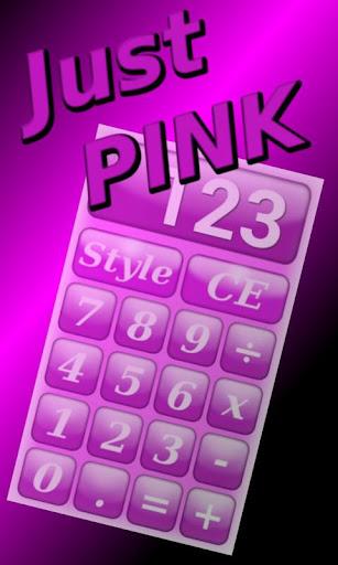 Simple Pink Calculator