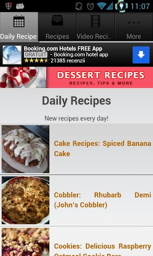 Dessert Recipes! screenshot for Android