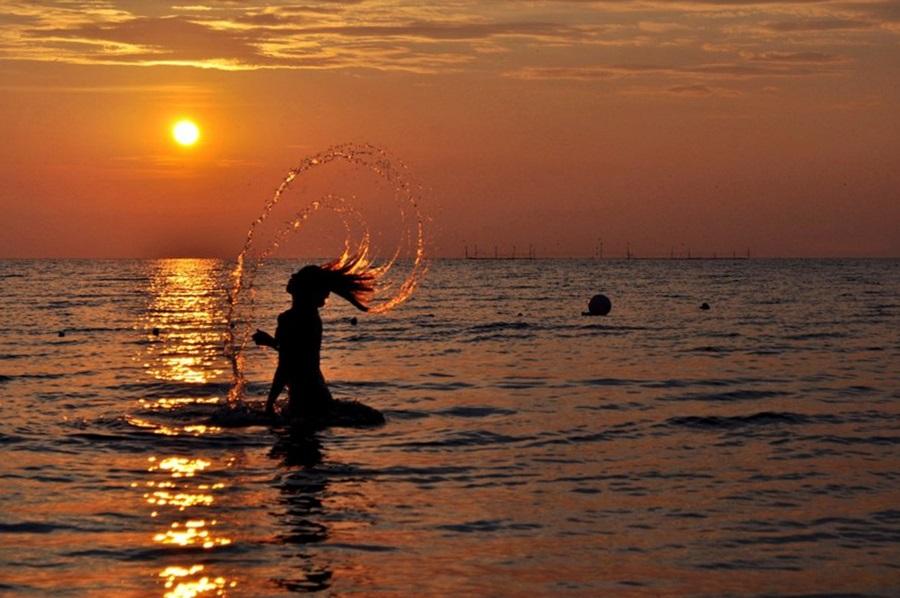 Siren by Alexandra Pop - People Street & Candids ( siren, water, beautiful girl rising from water, magic, sunny day, sunshine, watersplas,  )