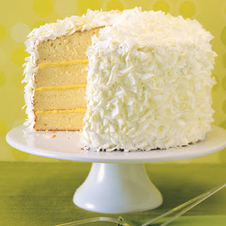 Ginger-Lime Coconut Cake with Marshmallow Frosting