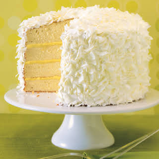 Ginger-Lime Coconut Cake with Marshmallow Frosting.
