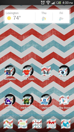 Chevron Red White Blue Theme