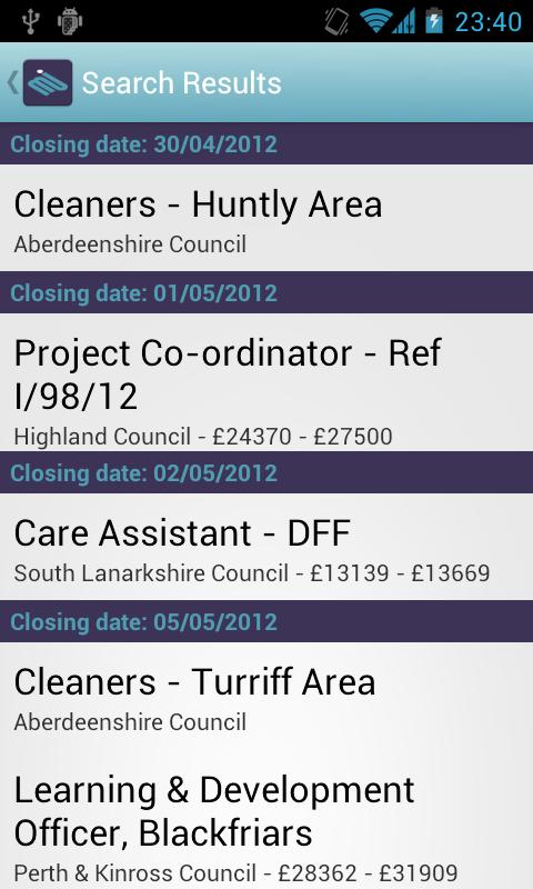 myjobscotland - screenshot