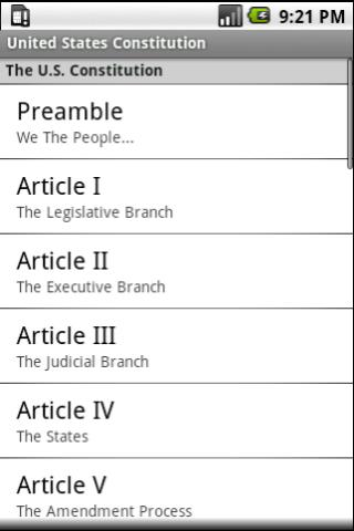 United States Constitution - screenshot