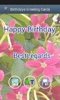 Screenshot of Birthday greetings cards free