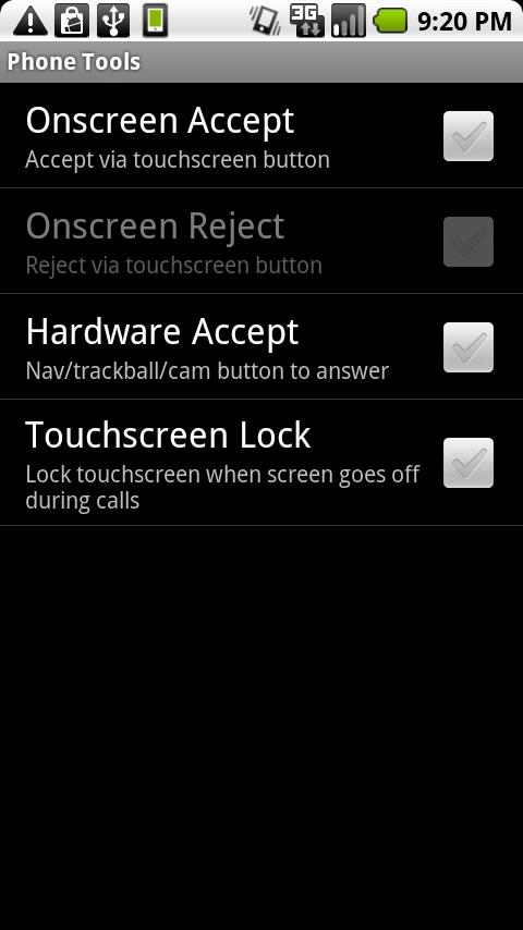myLock droid phone tools -BETA - screenshot