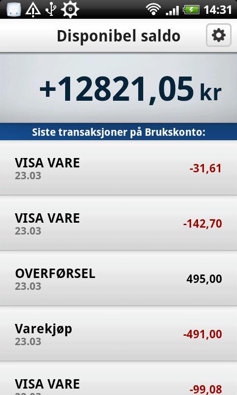 Mobilbank- screenshot