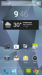 Nexus Triangles LWP Free - screenshot thumbnail