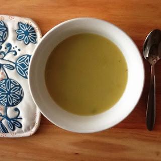 Golden Potato Leek Soup