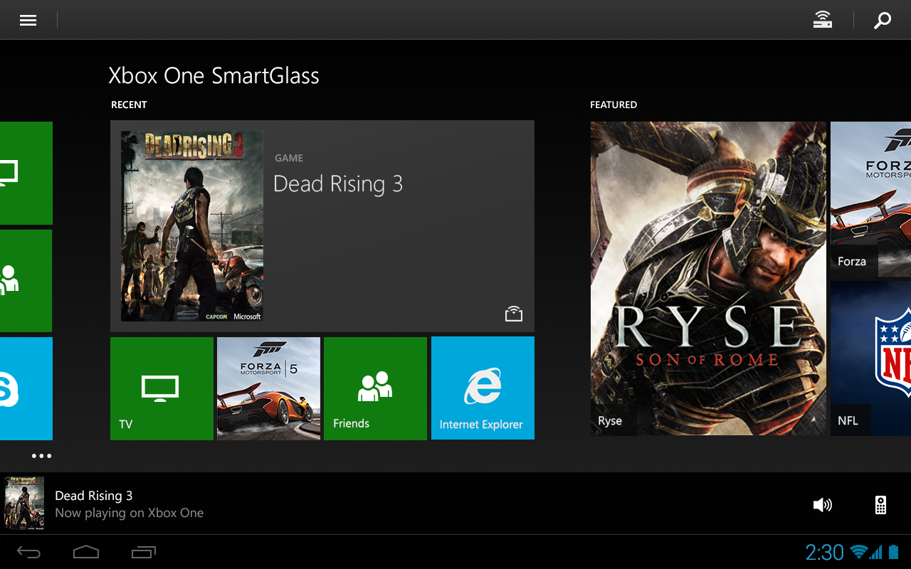 Xbox One SmartGlass- screenshot