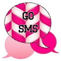 GO SMS - Candy Cane Pink icon