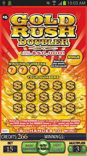 =GOLD RUSH DOUBLER Lotto Card=