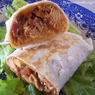 Zesty Chicken Burritos.