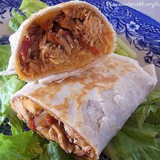 Zesty Chicken Burritos.