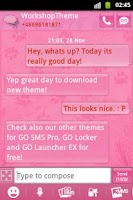 Screenshot of Pink 2 GO SMS PRO Theme