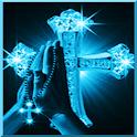 Blue sparkling cross LWP logo