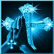 Blue sparkling cross LWP