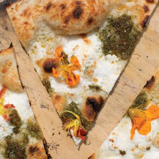 Nasturtium Pizza.