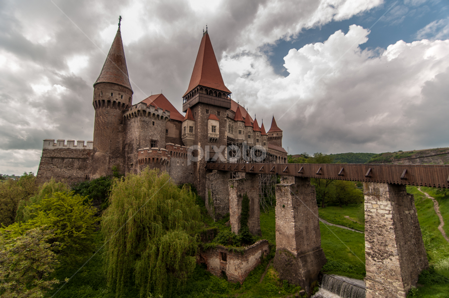 The Castel by Ioana Alexandra Bica - Buildings & Architecture Public & Historical ( clouds, castel, deva, romania, landscape, spring )