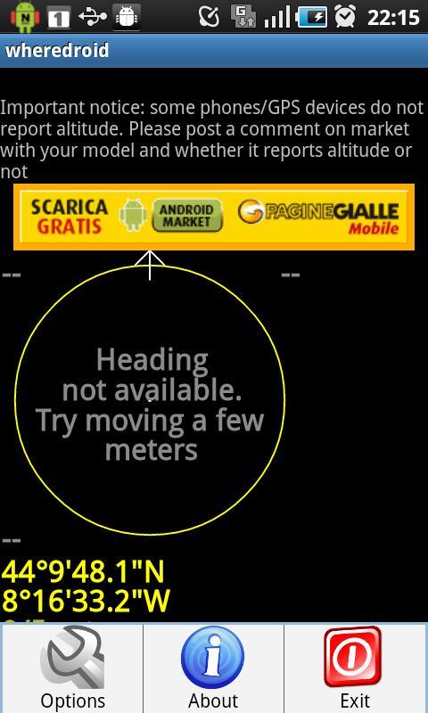 wheredroid- screenshot