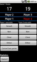 Screenshot of Badminton Score lite