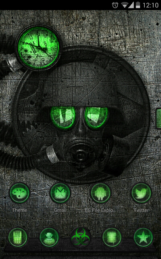 Next launcher theme STALKER G - screenshot