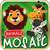 Animated puzzle game animals