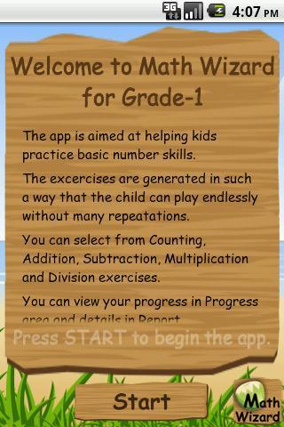 MathWizard Grade 1- screenshot