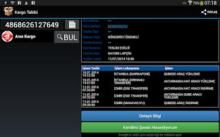 Screenshot of Kargo Takibi