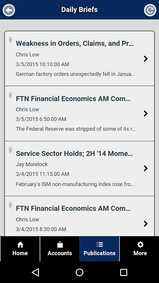 FTN Mobile- screenshot