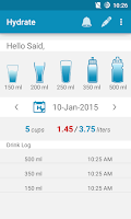 Screenshot of Hydrate Drink Water