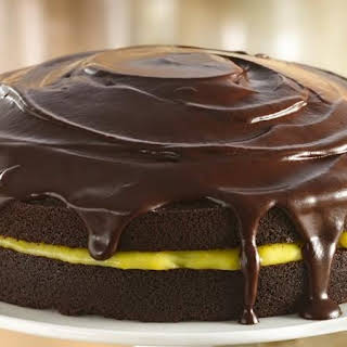 Chocolate-Orange Cake with Ganache Glaze.