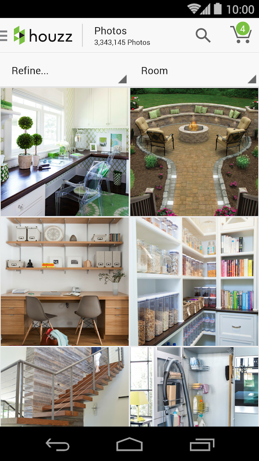 Houzz interior design ideas screenshot for Interior design shopping app