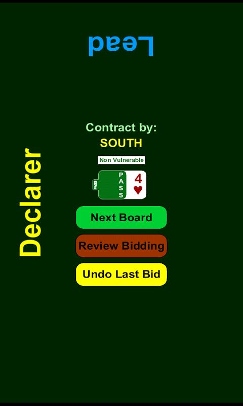 Bridge Bidding Box - screenshot