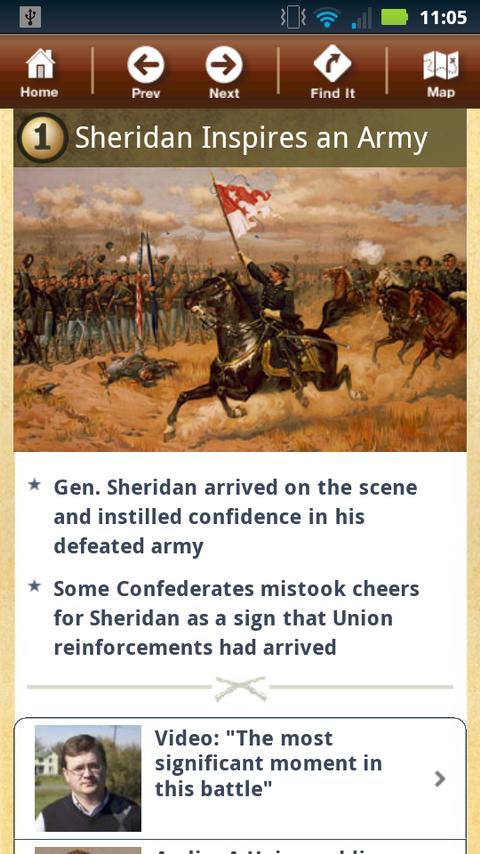 Cedar Creek Battle App - screenshot