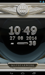 Digi Clock Widget Iron Sun APK screenshot thumbnail 3