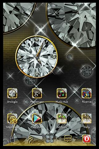 Diamond Widget Clock - screenshot