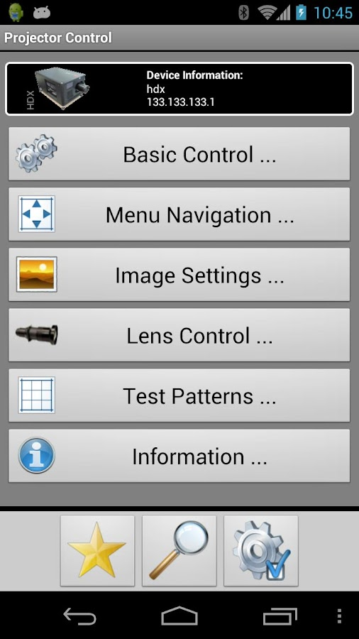 Barco Projector Control - screenshot