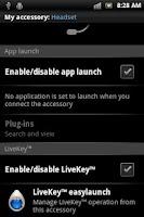 Screenshot of LiveKey™ easy launch