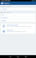 Screenshot of MobileIron Go