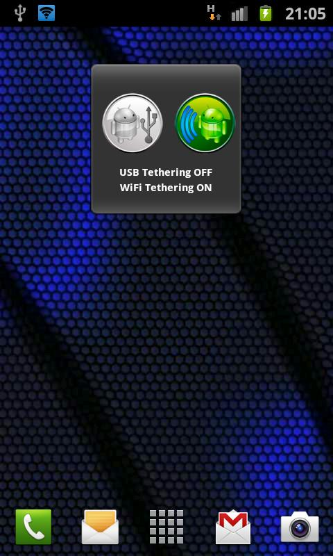 One Click USB WiFi Tether - screenshot