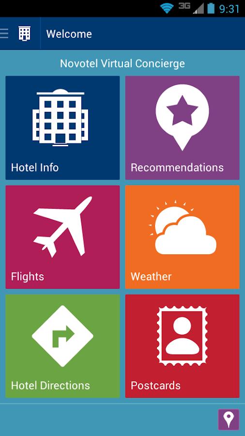 Novotel Virtual Concierge - screenshot