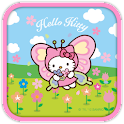 Hello Kitty Butterfly Theme logo