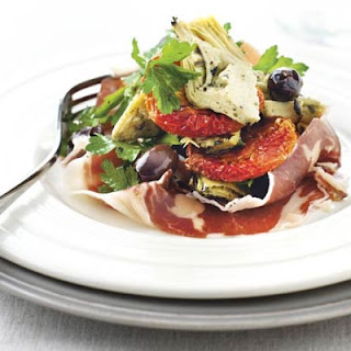 Slow-Roast Tomatoes with Iberico Ham & Artichokes Recipe