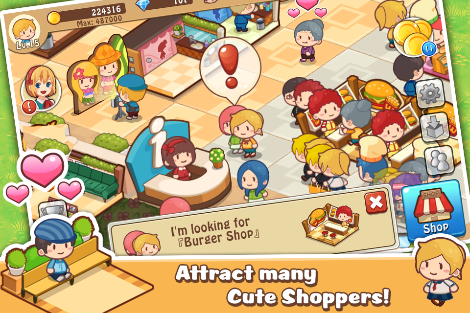 Screenshots of Happy Mall Story: Sim Game for iPhone