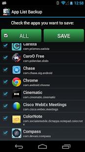 App List Backup - screenshot thumbnail